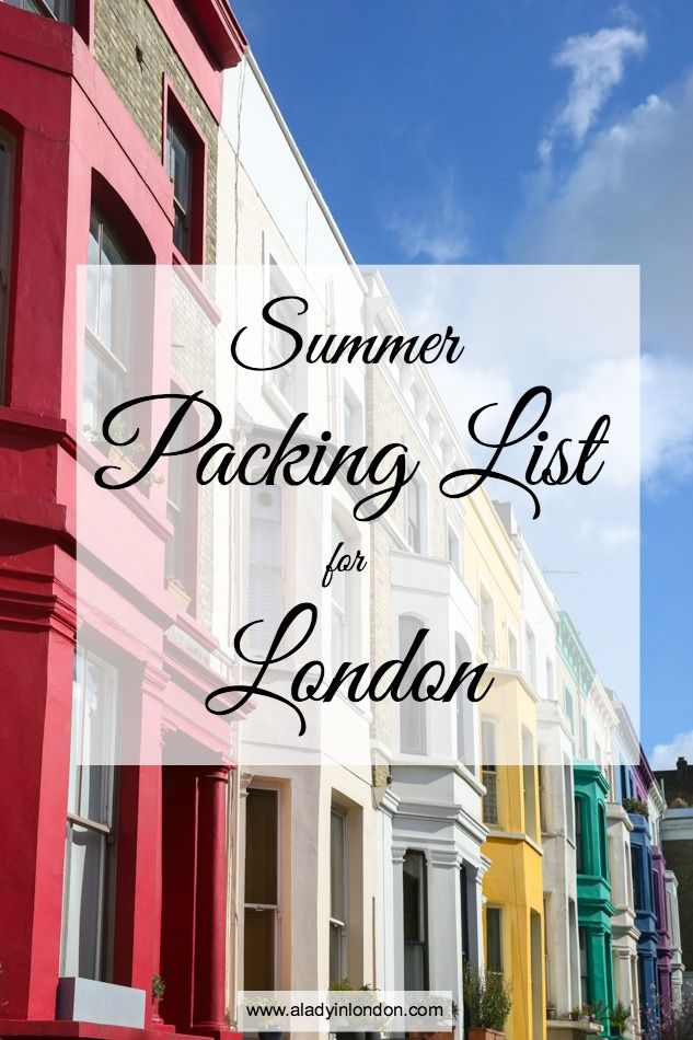 If you're traveling to the UK and don't have room to bring your entire wardrobe with you, here's my helpful summer packing list for London.