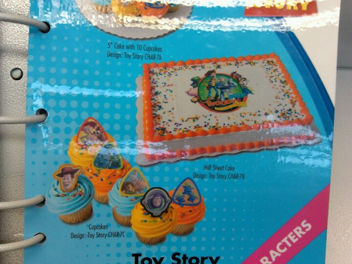 Super Disney Pixar Toy Story Half Sheet Cake Cupcakes Walmart Or Personalised Birthday Cards Arneslily Jamesorg