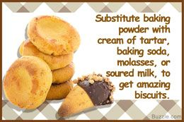 Substitutes for baking powder in biscuits