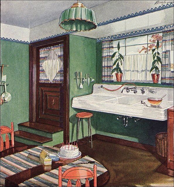 1928 Kitchen by Crane