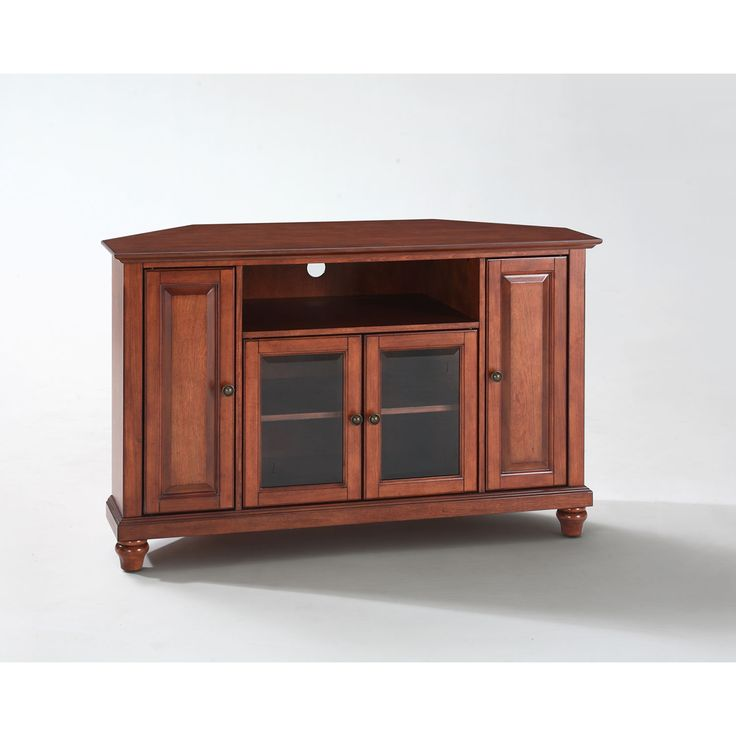 Cambridge 48 Inch Corner Tv Stand In Classic Cherry Finish Crosley Furniture Corner Tv Cab