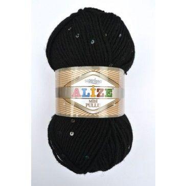 Exclusieve zwarte wol met zwarte pailletten erin mooie glamoureuze uitstraling.