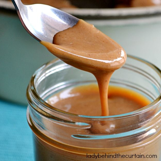 Easy Caramel Drizzle. the best i have ever tasted! condensed milk, brown sugar, vanilla, butter.