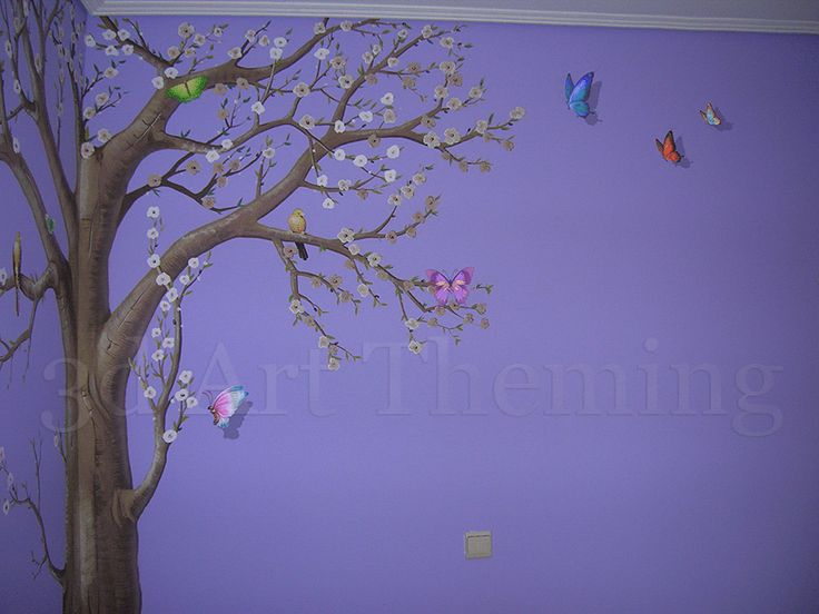 δέντρο ζωγραφική παιδικού δωματίου