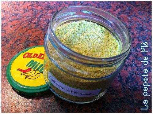 Sel aromatisé pour grillades (noix de coco/curry)