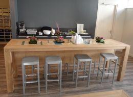 Eiken bartafel | bartafel met sloophout Claudiu | de Steigeraar