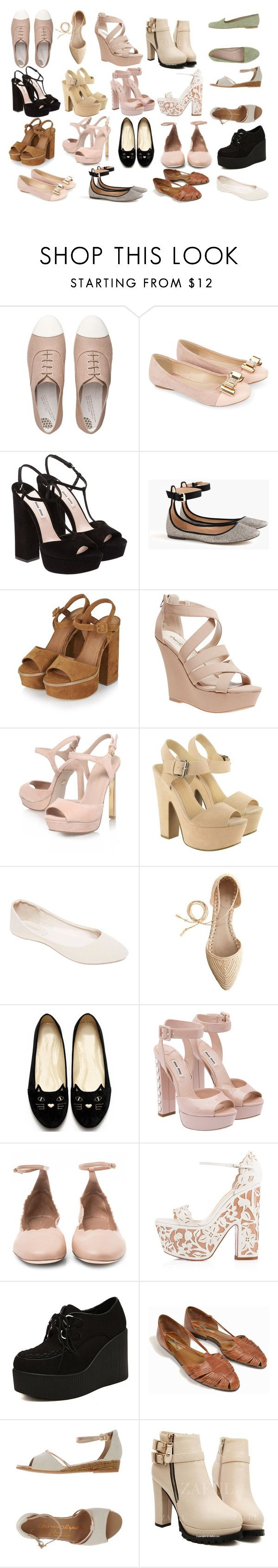 """Style Steal:Marzia Bisognin-Shoes"" by emnicole9 ❤ liked on Polyvore featuring FitFlop, Monsoon, Miu Miu, J.Crew, Topshop, Wet Seal, KG Kurt Geiger, Lipsy, Chloé and Christian Louboutin"