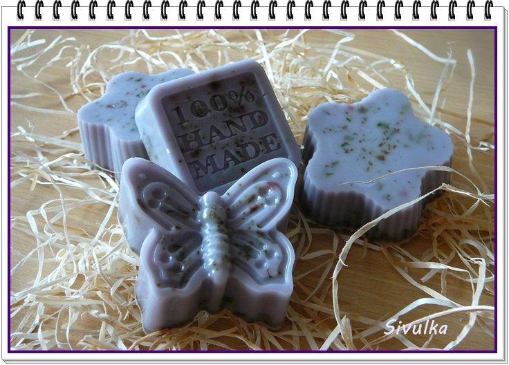 glycerinové mýdlo s kozím mlékem - levandule