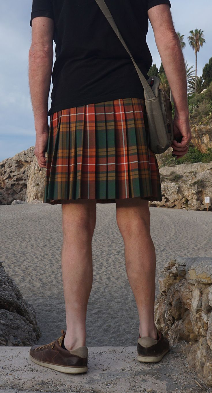 Just shorts replaced by a kilt
