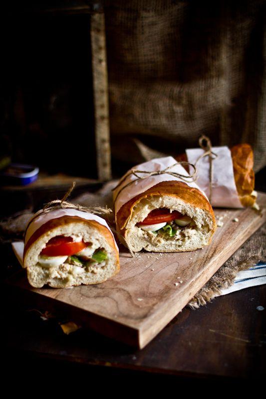 (Tuna Nicoise Sandwich) Nicoise Sandwiches, Pan Bagnat, Bagnat Tuna ...