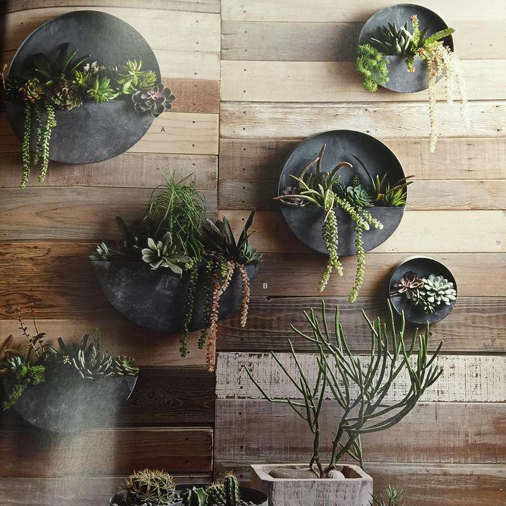 Orbea Zinc Wall Planters
