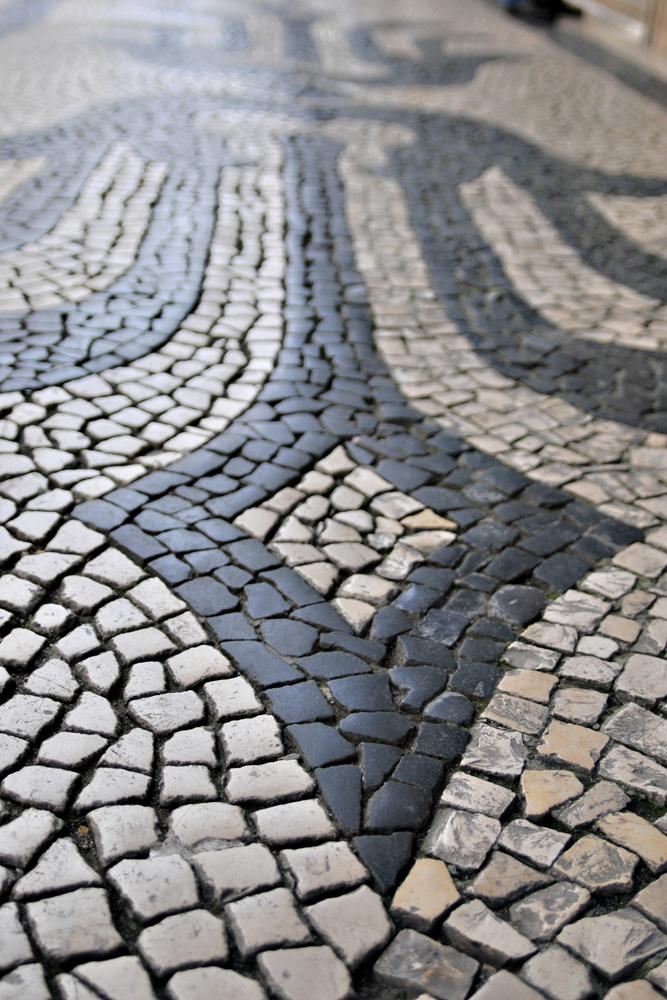 Mosaic Stone Sidewalk, Lisbon