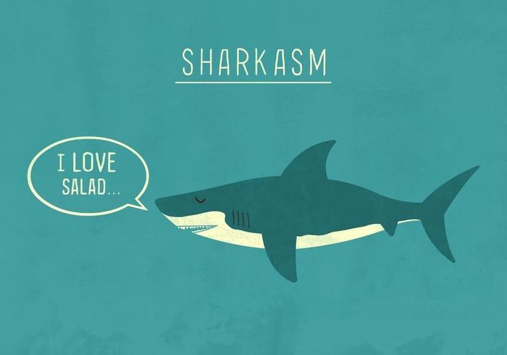 sharks <3 <3Sharks Weeks, Funny Pictures, Art Prints, Graphics Design, Funny Stuff, Sharkasm, Kids Book, Funnystuff, Funny Puns