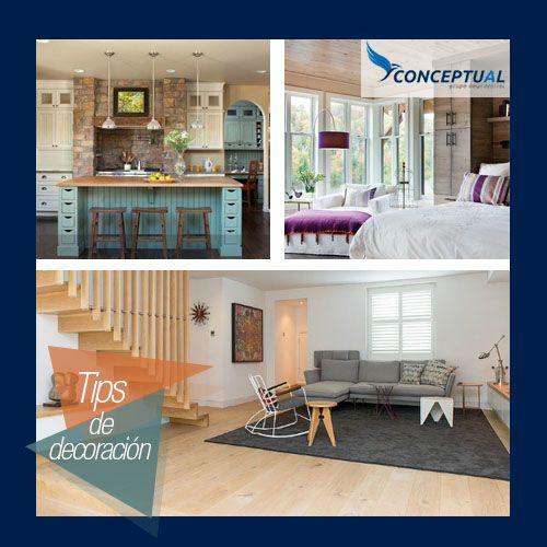 La mezcla de muebles con diseño moderno y acabados en madera, confieren un estilo rústico contemporáneo creando ambientes muy cálidos. Inténtalo en tus espacios.