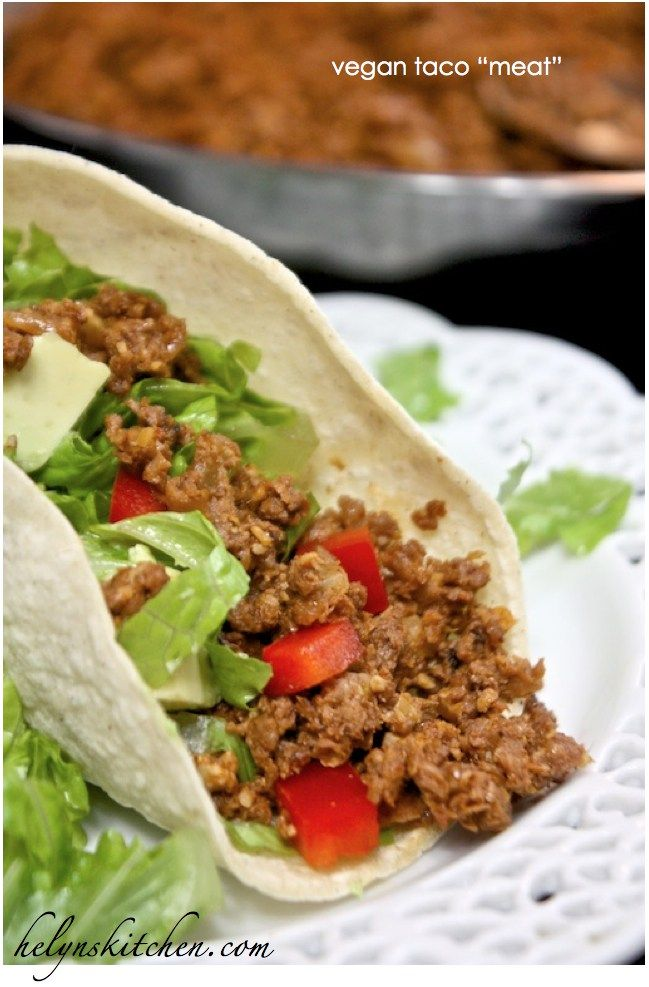 """Taco """"meat"""" with Butler Soy Curls"""