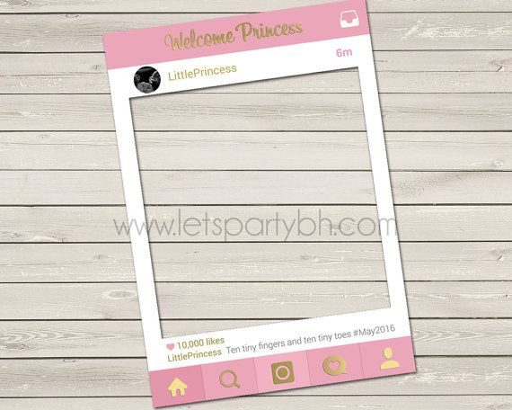 Digital File Pink Baby Shower Instagram Photo by LetsPartyBH