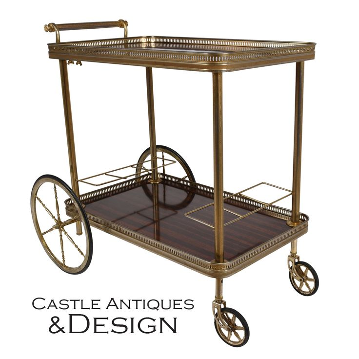 A stylish 1970's vintage bar cart for displaying and serving anything from liqueurs to dog food. I can think of tons of uses for this one! #flexible #multipurpose #versatile #minimal #decor #finditstyleit #eclectic #homeinspo #losangeles #retro #noho #losangeles