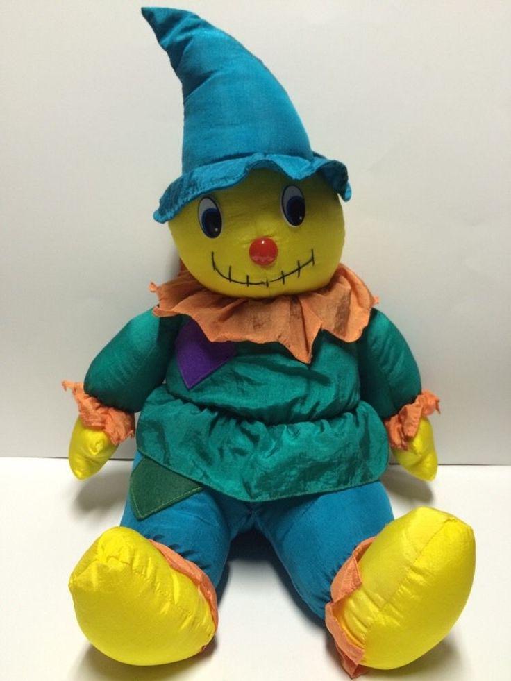 "1994 Four Star Fall Decor Scarecrow Nylon Plush Puffalump Style 23""  | eBay"