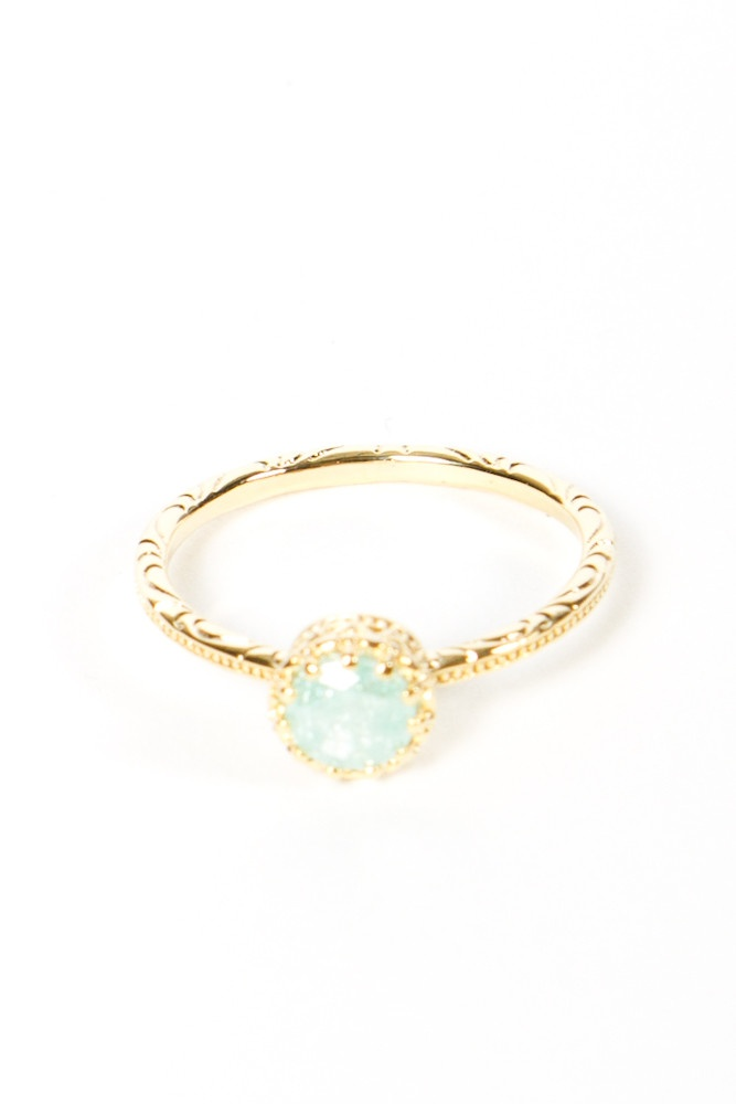 mint green ring