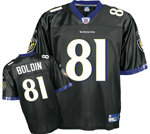 Boldin Jersey, #81 Baltimore Ravens Authentic NFL Jersey in Black  ID:486  Price:$20