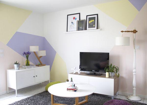 253 best images about peinture papier peint masking tape for Deco tendance geometrique