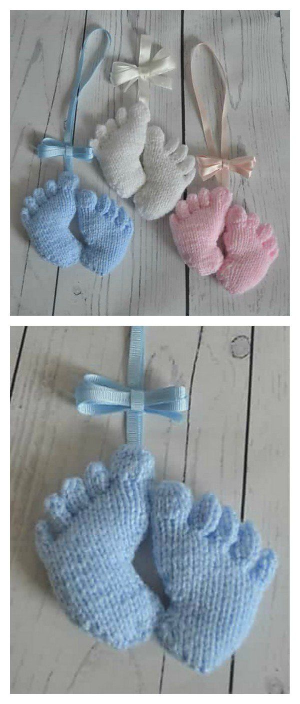 Amigurumi Baby Footprints Knitting Pattern