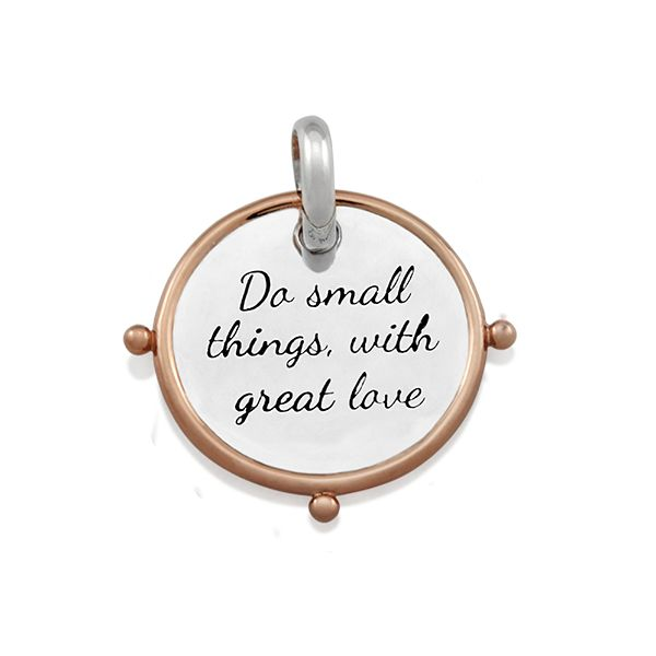 Candid 'Do Small Things With Great Love' Pendant