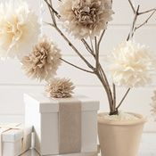 A super easy craft project & fun decorating idea for home or a special occasion, see how to make these stunning pom poms with this step-by-step tutorial.