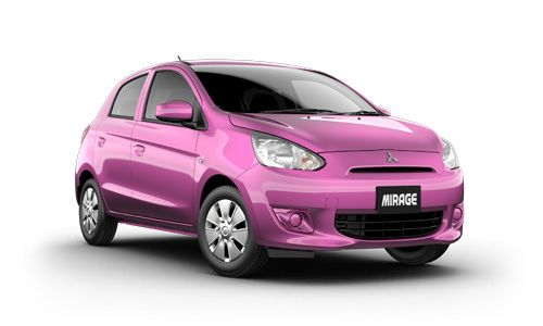 Mitsubishi Mirage Hatch in Mulberry