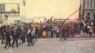 Ultras Sur + Grupo 1143 Lisboa 24-05-2014 - YouTube