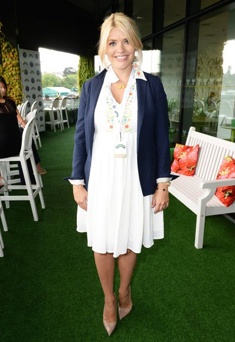 #HollyWilloughby is a seriously yummy mummy to be in her #ASOS Maternity dress.  Shop it here: http://asos.to/1pr7EmH