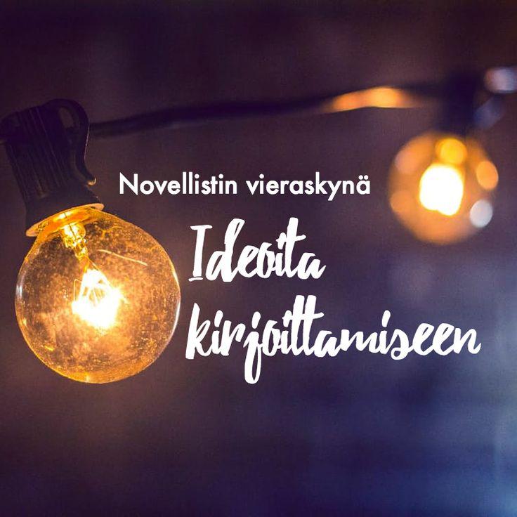 Etsitkö ideoita kirjoittamiseen? Lue Jukka Aholan vieraskynä ideoista ja  siitä, mistä niitä saa.