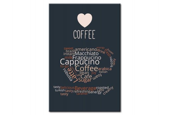 """Metal poster for cofee lovers """"Coffee of the Day"""" #metalposter #poster #walldecoration #homedecor #coffee"""