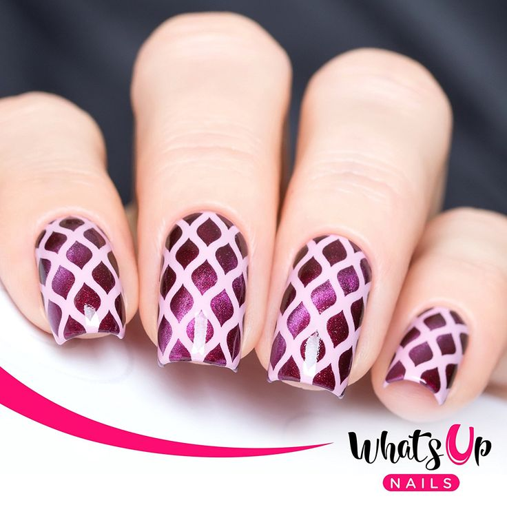 Whats Up Nails - Fishnet Nail Stencils Stickers Vinyls for Nail Art Design (2 Sheets, 24 Stencils Total) ** Read more  at the image link.