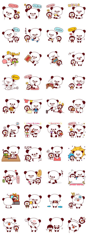 Stickers - Panda és Pingvin