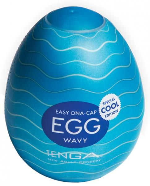 Tenga Egg Wavy Cool who says bigger is always better? Tenga EGGs are a huge experience in a tiny container. The special Cool edition comes with a cooling lubricant; great for cooling off in the summer! Just pop open the egg, pour in the lubricant, and away you go! Able to stretch to longer than 12 inches long and 3 inches wide, Tenga EGGs are discreet masturbation sleeves for you to enjoy anywhere. With careful use and cleaning, you can re-use your Tenga EGG, or throw away when you're…