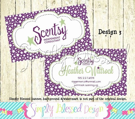 Scentsy Loyalty Cards Luxury Scentsy Double Sided Business Card Diy By By Diy Business Cards Double Sided Business Cards Buisness Cards