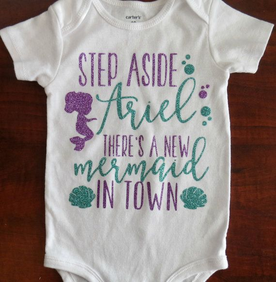 Throwing an Under the Sea themed birthday party or have a little mermaid on your hands? Then this bodysuit is for you! This bodysuit