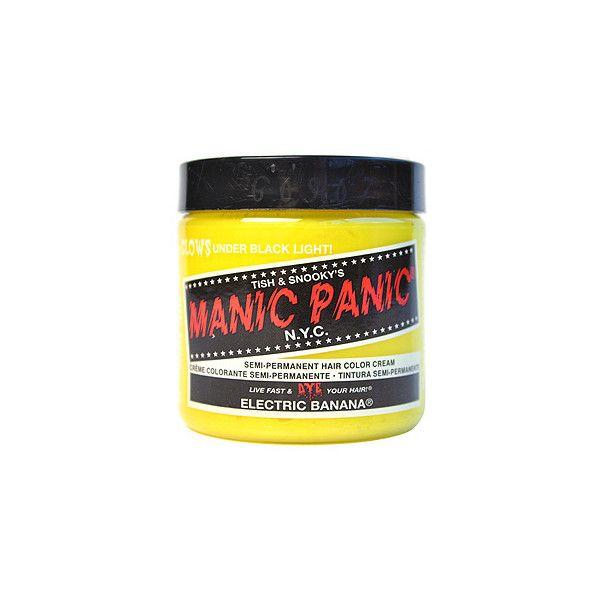 Manic Panic colour cream - yellow hair dye - manic panic hair 36985 UK ($12) ❤ liked on Polyvore