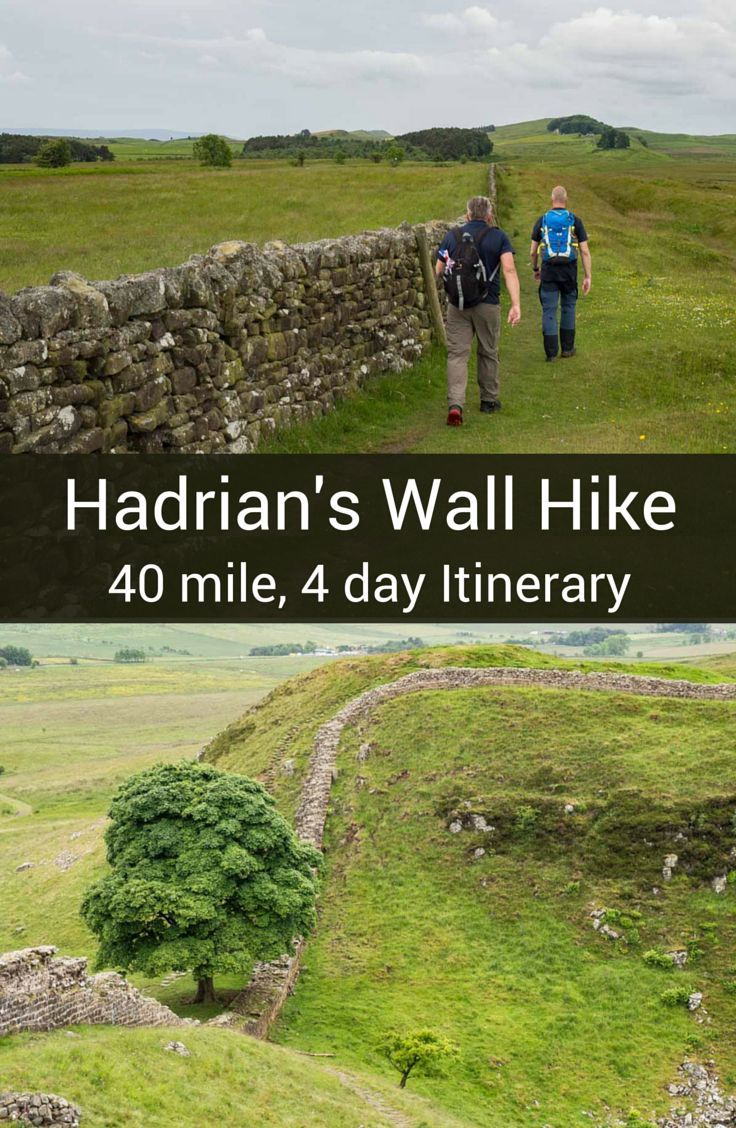"""Tackle the Hadrian's Wall walk with this 4-day 40 mile itinerary. It's a """"best of"""" itinerary with practical tips for having a great walk.:"""