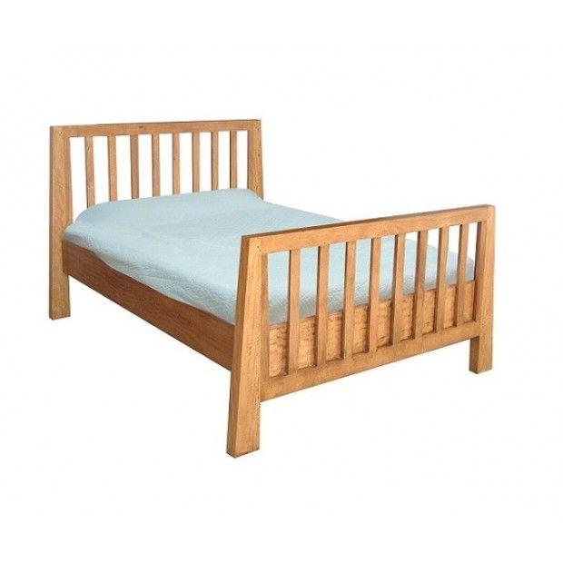 Asian Solid Mango Wood 6' Super King Size Railed Bed   Oak Furniture UK