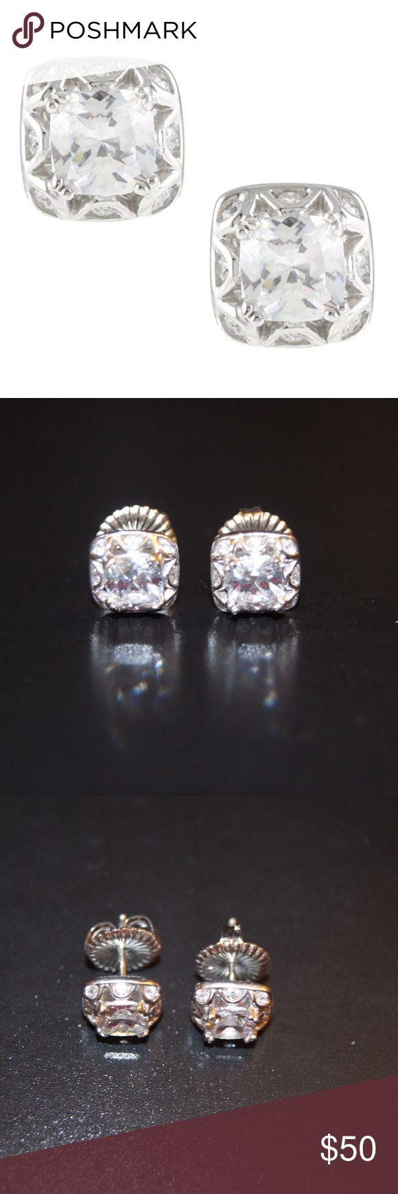 NWOT Tacori Sterling Silver CV Earrings & Necklace NWOT Tacori Sterling Silver CV Earrings & matching Necklace.  Never been worn before. Tacori Jewelry Earrings