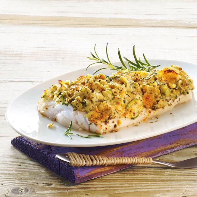 Kabeljau mit Zucchini-Cornflakes-Kruste