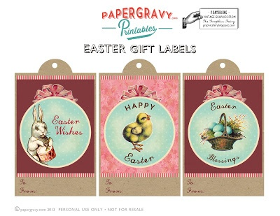 Printable Easter Gift Tags - The Graphics Fairy