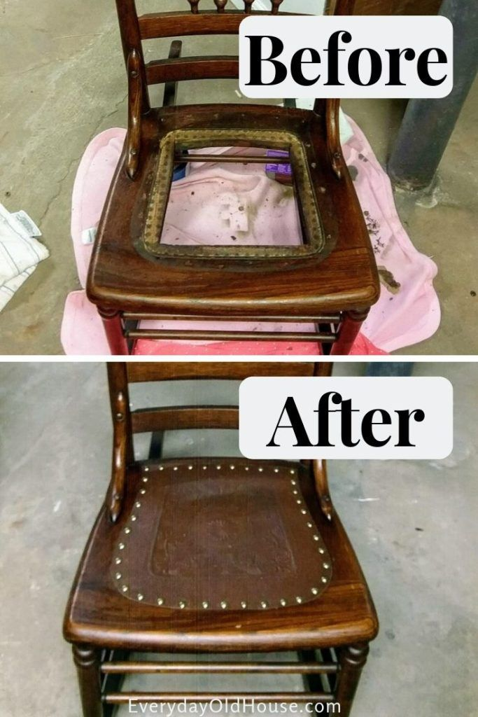 How To Replace A Leather Seat In An Antique Chair Everyday Old House Antique Rocking Chairs Antique Wooden Chairs Antique Chairs Diy