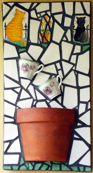 """Tea for Two"" mosaic - 2007 by Kevin McMahon @MosaicAvatar"