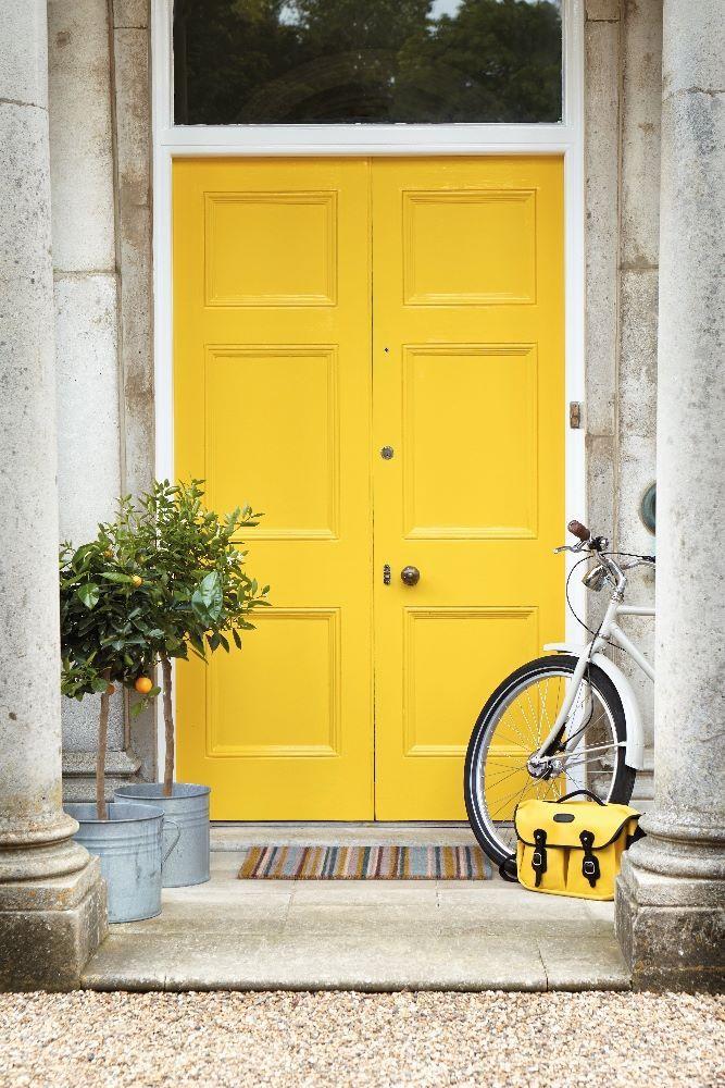 Voordeur geel - buitenverf Little Greene