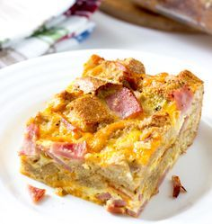 Egg McMuffin Breakfast Casserole is based on the flavors of the popular McDonalds breakfast sandwich. It's great for feeding a crowd & could be made the night before.