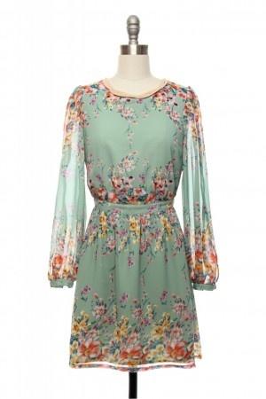 Sheer Bliss Mint Goddess Dress
