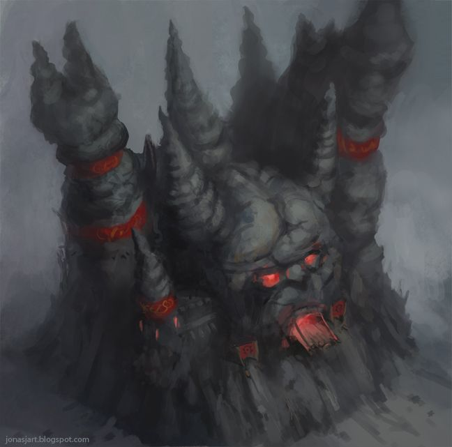 Warcraft 2 Orc Fortress by JonasJensenArt on deviantART via PinCG.com